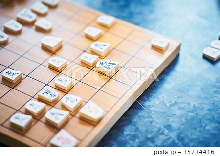 将棋の対局 駒と盤 35234416
