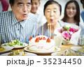 3世代家族のお祝い 35234450