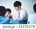将棋の勉強をする男の子 35235278