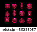 Group of  ruby shape with clipping path 35236057
