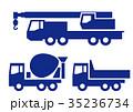 大型工事車両 アイコン バリエーションのイラスト 35236734