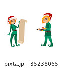 クリスマス お手伝い 手伝いのイラスト 35238065