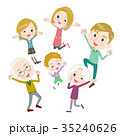 ファミリー 家庭 家族のイラスト 35240626