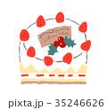 クリスマス クリスマスイブ ケーキのイラスト 35246626