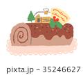 クリスマス クリスマスイブ ケーキのイラスト 35246627