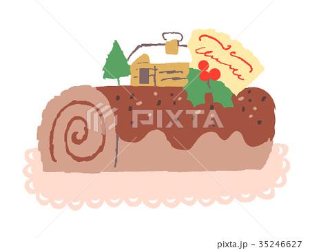 ケーキ ブッシュドノエル 35246627