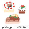 クリスマス クリスマスイブ ケーキのイラスト 35246628