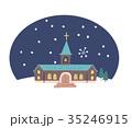 教会と雪 35246915