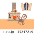 暖炉と椅子 35247219
