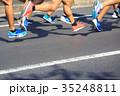 ランナー 走る クローズアップの写真 35248811