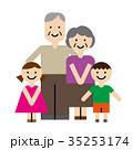祖父母 祖父 祖母のイラスト 35253174