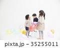 遊ぶ 子供 風船の写真 35255011