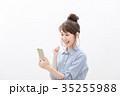 スマートフォン 女性 若いの写真 35255988
