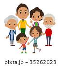 人々 人物 ファミリーのイラスト 35262023