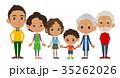 ファミリー 家庭 家族のイラスト 35262026