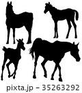 馬 ベクトル 人影のイラスト 35263292