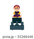 少年 ゲーム ベクトルのイラスト 35266446