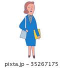 女性 人物 スーツのイラスト 35267175