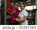 トレーニング ワークアウト 女性の写真 35267263
