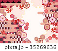 和柄 和風 背景のイラスト 35269636