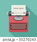 タイプライター ベクター フラットのイラスト 35270243