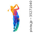 GOLF ゴルフ ブランコのイラスト 35271040