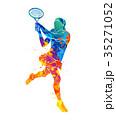 テニス ペイント 塗るのイラスト 35271052