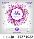 ベクトル ミュージック 譜面のイラスト 35274082