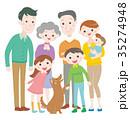 家族 三世代 ペットのイラスト 35274948