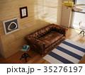インテリア カリフォルニアスタイル ソファのイラスト 35276197