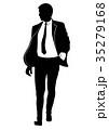 人影 影 シルエットのイラスト 35279168