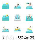 スイミング 水泳 水のイラスト 35280425