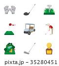 スポーツ GOLF ゴルフのイラスト 35280451