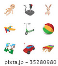 Game icons set, cartoon style 35280980