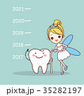 tooth with new year 35282197