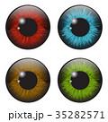 虹彩 目 眼のイラスト 35282571