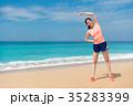 ビーチ 浜辺 女性の写真 35283399