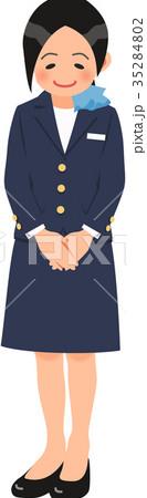 お辞儀をするコンシェルジュの女性 35284802