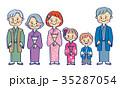 家族 人物 ベクターのイラスト 35287054
