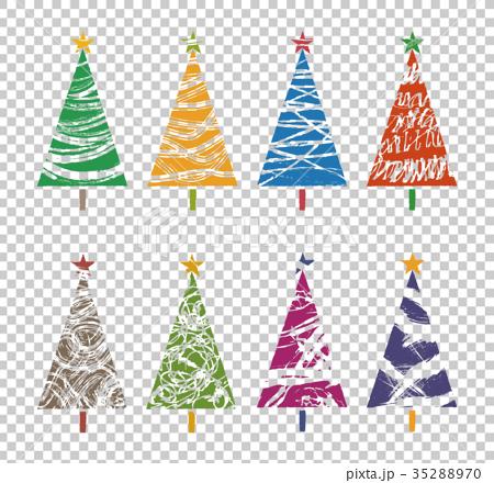 다양한 모양의 화려한 크리스마스 트리 35288970