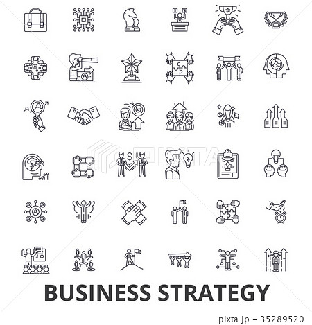 business strategy business plan businessのイラスト素材 35289520