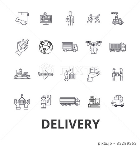 Delivery, food, free delivery, courier, truck 35289565