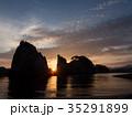 浄土ヶ浜からの日の出 35291899
