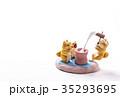 お正月イメージ 年賀状素材 戌年 柴犬 ポストカード 35293695