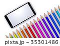 色鉛筆とスマートフォン 35301486