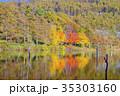 秋 紅葉 女神湖の写真 35303160
