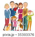 家族 人物 ベクターのイラスト 35303376