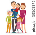 家族 人物 親子のイラスト 35303379