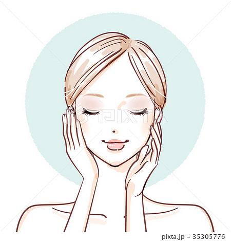 beauty woman_both hands on cheeks 35305776