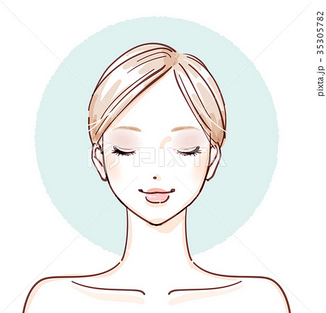 beauty woman_After make up closed eyes 35305782